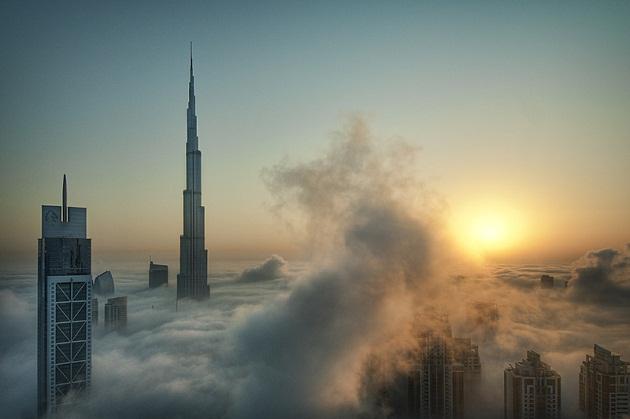Небоскребы в Дубае. Урбанистическая красота