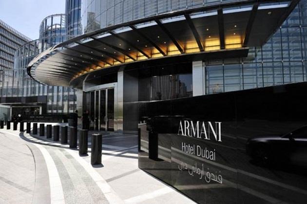 Первый в мире отель бренда Armani, занимает с 9 по 16 этажи Бурдж Халифа