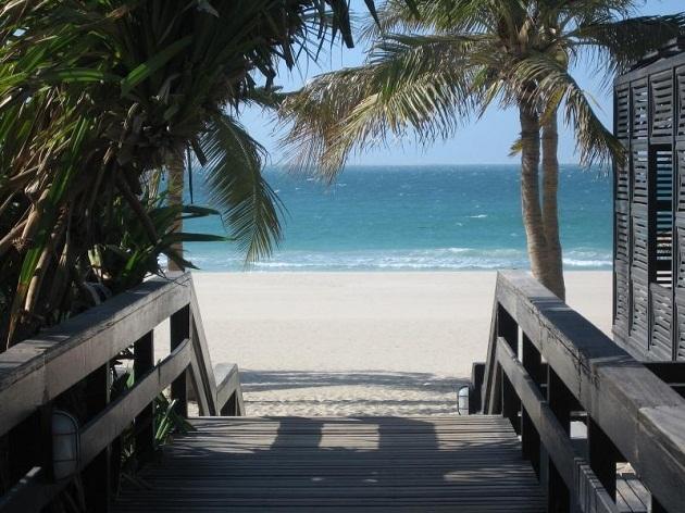 Джумейра Бич Парк. Вид одного из самых известных пляжей Дубая