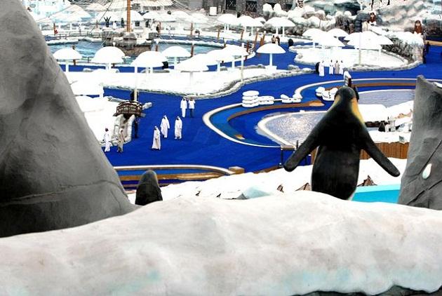 Аквапарк Ice Land Water Park. Ледяной пейзаж и южное тепло