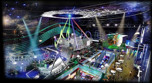 SEGA Republic тематический парк в The Dubai Mall площадью более 7000 квадратных метров